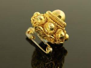 14 karaat gouden zeeuwse knop broche.