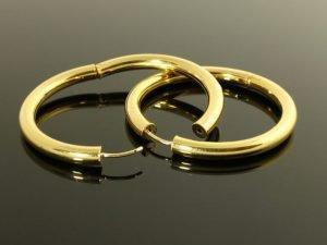 14 karaat gouden oorbellen.