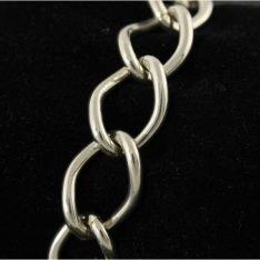 Zilveren schakelarmband.