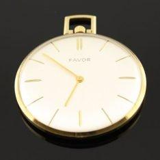 14 karaat gouden zakhorloge merk: Favor.
