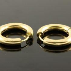 14 karaat gouden oorbellen creolen.