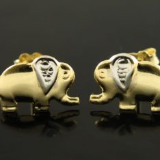 14 karaat gouden bicolor oorstekers.
