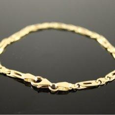 14 karaat gouden armband met fantasie schakel.