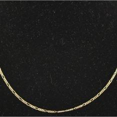 14 karaat gouden collier met figaro schakel.