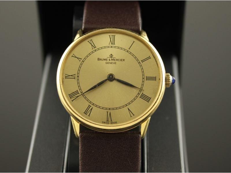 18 karaat gouden Baume & Mercier mechanisch (opwind) heren horloge.