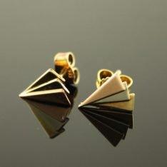 14 karaat gouden tricolor oorstekers.