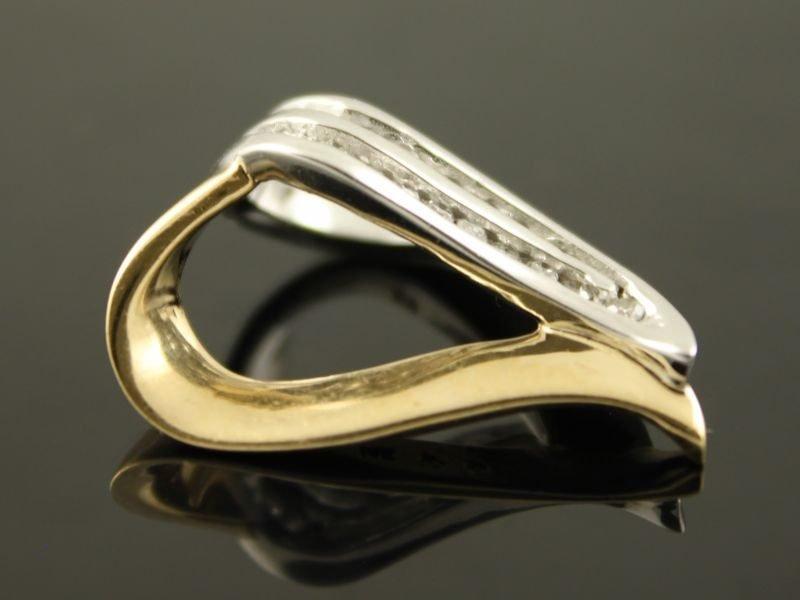 14 karaat gouden bicolor hanger met briljant.
